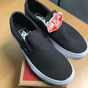 Brand New Vans Slip on Mono Canvas Asphalt